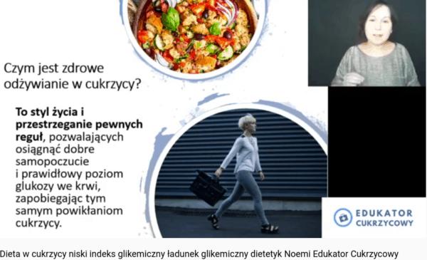 Dieta w cukrzycy niski indeks gikemiczny ładunek glikemiczny Edukator Cukrzycowy Dietetyk Noemi