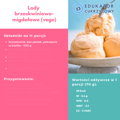 Lody brzoskwiniowe vege dla cukrzyka dietetyk Noemi